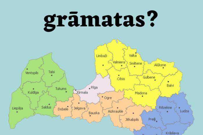 No kurām Latvijas vietām tiek pasūtītas mūsu grāmatas?